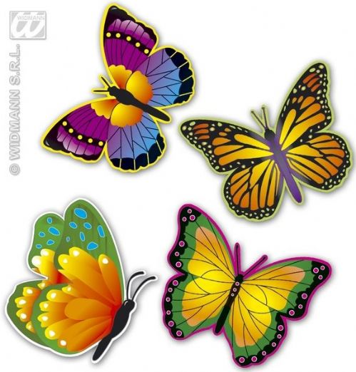 Neon Butterfly 4 Styles Decoration Bug Insect Animal Creature Party